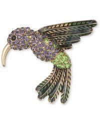 Anne Klein - Faceted Hummingbird Brooch - Lyst