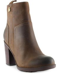 Tommy Hilfiger - Darcell2 Military-inspired Leather Ankle Boots - Lyst