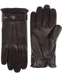 Black Brown 1826 - Fleece Lined Nappa Leather Gloves - Lyst