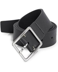 CALVIN KLEIN 205W39NYC - Pebbled Leather Belt - Lyst