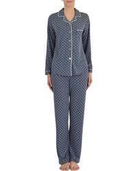 Claudel - Two-piece Dotted Cotton Pajama Set - Lyst