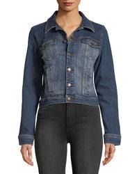 Eileen Fisher - Cropped Denim Jacket - Lyst