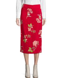 Diane von Furstenberg | Tailored Midi Pencil Skirt | Lyst