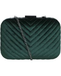 Pieces - Fluwelen Clutch - Lyst