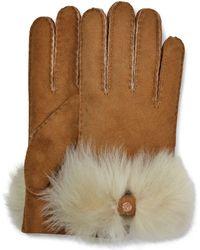 UGG - Long Pile Bow Handschoenen - Lyst