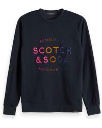 Scotch & Soda - Trui Met Kleurrijk Logo - Lyst