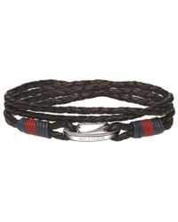 Tommy Hilfiger - Tj Stacked Leather Bracelets-black - Lyst
