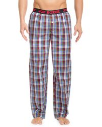 Joe Boxer - Plaid Patterned Cotton Poplin Pants - Lyst