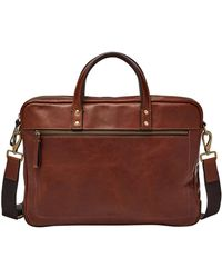 Fossil | Defender Leather Briefcase | Lyst