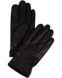 Calvin Klein   Hand Stitch Cuff Leather Gloves   Lyst