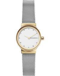 Skagen - Freja Stainless Steel Mesh Bracelet Watch - Lyst