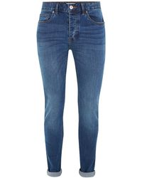 TOPMAN - Wash Stretch Skinny Jeans - Lyst