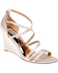 Badgley Mischka - Bonanza Satin Wedge Sandals - Lyst