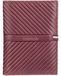 Tommy Hilfiger - Embossed Leather Checkbook Wallet - Lyst