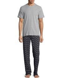 Black Brown 1826 | T-shirt And Printed Pants Pajama Set | Lyst