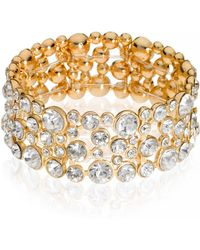 Guess - Crystal Accented Bracelet - Lyst