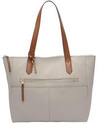 Fossil - Fiona Ew Leather Tote - Lyst