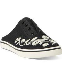 Lauren by Ralph Lauren | Embroidered Slide Sneakers | Lyst