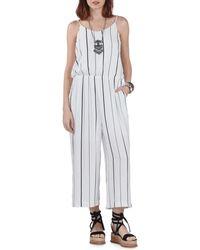California MoonRise - Gaucho Striped Jumpsuit - Lyst