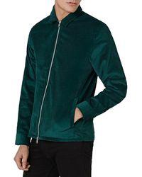 TOPMAN - Corduroy Zip-up Overshirt - Lyst