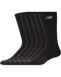New Balance - Mens 6 Pair Pack White Cotton Crew Socks - Lyst