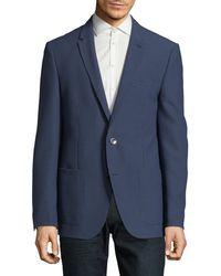 HUGO - Harvey Micro Check Wool-blend Sport Jacket - Lyst