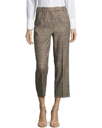 Marella | Cropped Plaid Trousers | Lyst