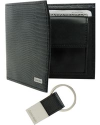 CALVIN KLEIN 205W39NYC - Lizard Embossed Leather Billfold With Key Fob - Lyst