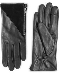 TOPSHOP   Leather Touchscreen Gloves   Lyst