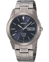 Seiko - Sapphire Titanium Horloge - Lyst