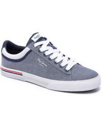 Pepe Jeans - Vulcanized North Court Chambray Sneaker - Lyst