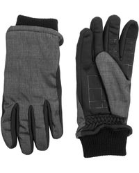 Dockers - Mixed Media Gloves With Touch-screen Compatibility - Lyst