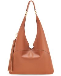 B Brian Atwood - Flora Tumbled Leather Hobo Bag - Lyst