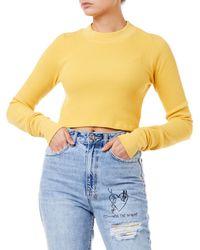 Cotton Citizen Monaco Crop Women Yellow Shirt