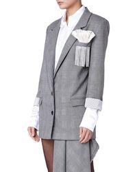 Daniele Carlotta - Embroidery Women Grey Jacket - Lyst