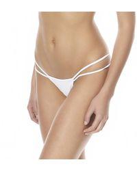 Minimale Animale Hot Pursuit Women White Bikini Bottom