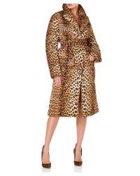 Bevza Anna Puffer Women Leopard Print Coat - Brown