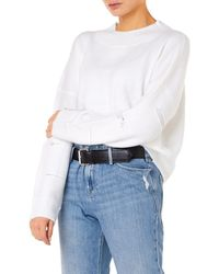 RTA - Liam Oversized High Neck Jumper In White - Lyst