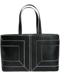 Elisabetta Franchi Logo Stitching Bag - Black