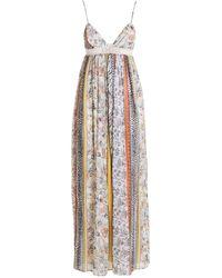 Ermanno Scervino Floral Print Dress With Macramé - Multicolour