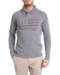 Woolrich - Grey Embroidered Pullover - Lyst