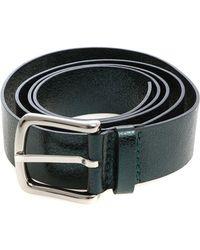 Orciani Green Metallic Leather Belt