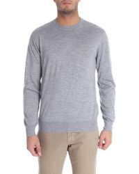 Cruciani - Grey Cashmere And Silk Pullover - Lyst