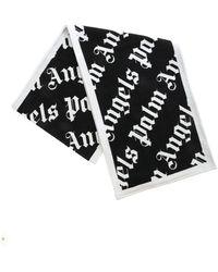 Palm Angels Monogram Scarf - Black