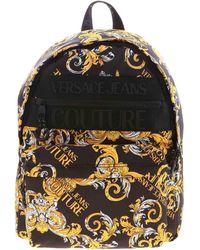 Versace Jeans Couture Zaino Nero Stampa Logo Baroque