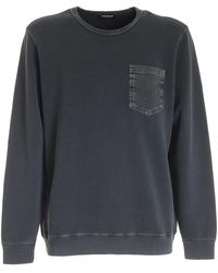 Dondup Pocket Sweatshirt - Grey