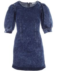 P.A.R.O.S.H. - Washed-out Denim Dress - Lyst