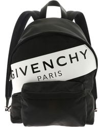 e958f3fdc9d6 Lyst - Givenchy Black   White Canvas Rider Backpack in White for Men