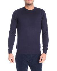 Fedeli - Dark Blue Wool Sweater - Lyst
