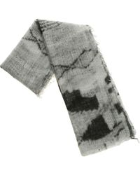 Avant Toi Melange Grey Cashmere Scarf